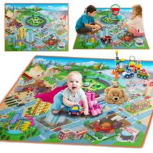 купить Children Kids Baby Crawling Blanket Carpet Rug City Life Learn To Walk Road Traffic Play Mat Home @ 88 YJS Dropship дешево