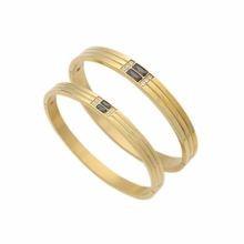 Новый дизайн модный браслет для мужчин/женщин Любовь Пара Золотой