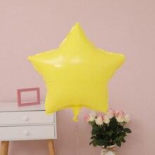 10 unids/lote de globos de aluminio de 18 pulgadas con forma de corazón y estrellas con colores de caramelo para decoración de bodas, globo Vintage de feliz cumpleaños, Helio grueso