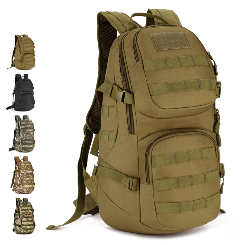 ФОТО Outdoor Tactical Backpack 35L Nylon Camo Climbing Travel Camping Hunting Cycling MOLLE Assault Pack Hiking Climber