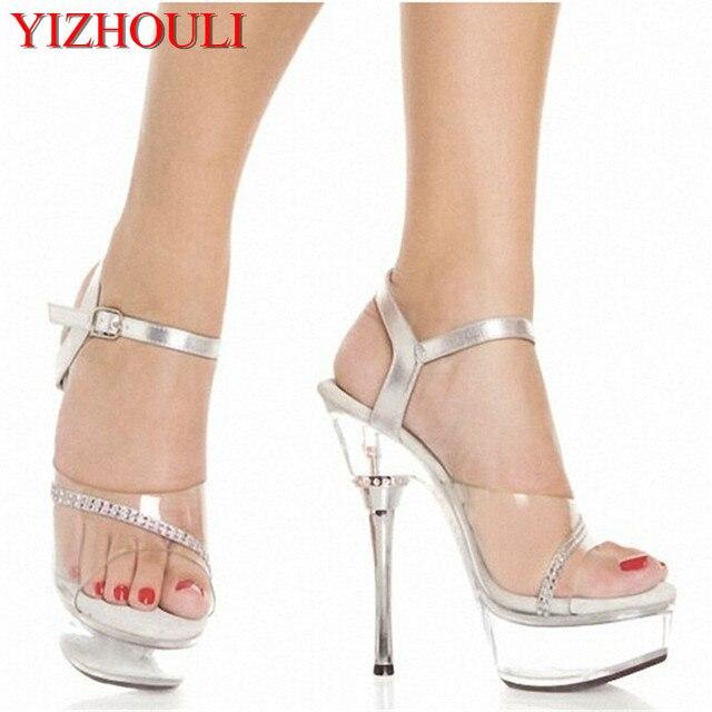 Sexy 14 Chaussures CM De Plate Chaussures Danse Transparent Forme qt0Zn4