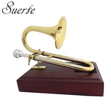 Trompette Soprano avec support dembout et toboggan en laiton jaune, instruments de musique
