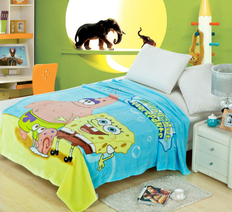 Minions Cartoon Blankets Doraemon Plush Kids Fleece Blanket Bed Throw Blanket on The Bed/Sofa/Car Size 150*200cm