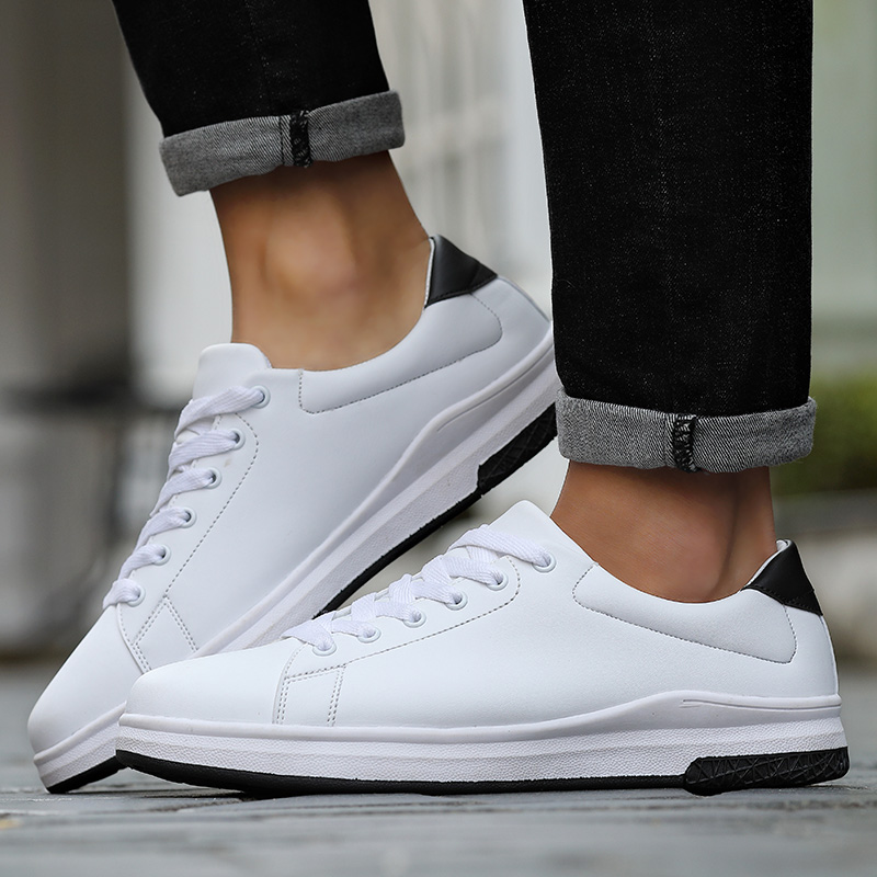 Mens Canvas Shoes Men Flats Breathable Sneakers Fashion Brand Flat Lace-up Leisure White Walking