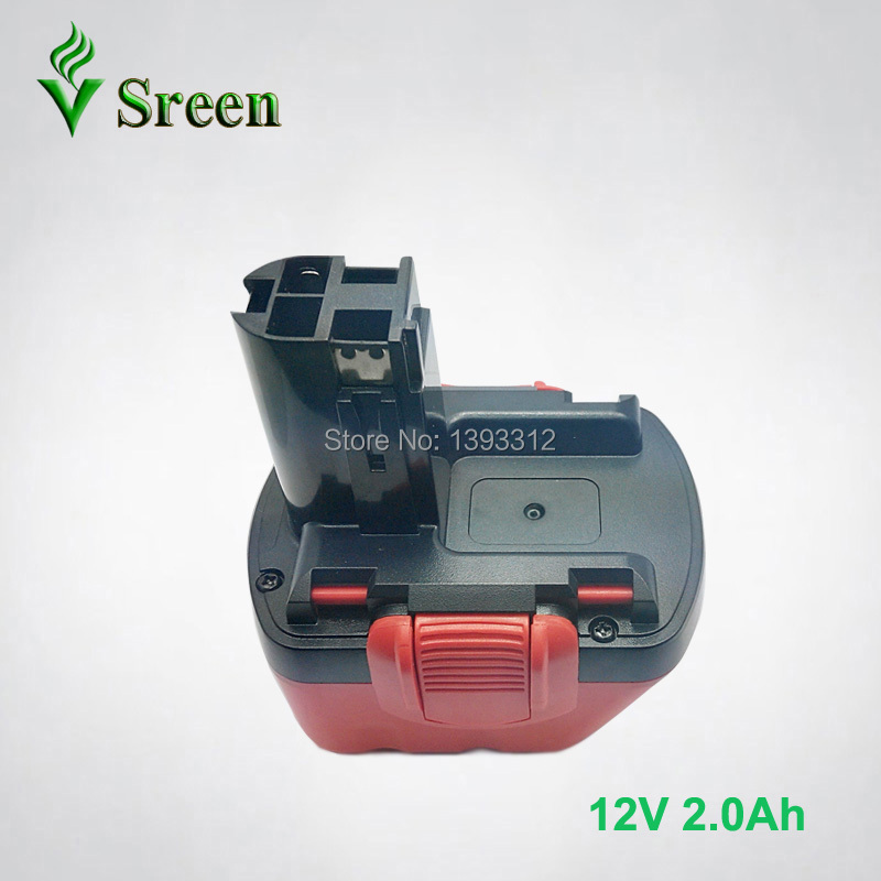 New 12V Ni-Cd 2000mAh Cordless Rechargeable Power Tool Battery Packs Replacement for Bosch BAT043 BAT045 BAT049 2 607 335 273 цена