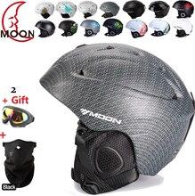 Envío gratis authentic extreme deportes equipo de protección casco de esquí chapa doble placa de viento cálido Nieve Cascos Adultos Niños