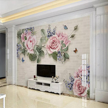 цена на 3D photo wallpaper modern minimalist hand-painted oil painting floral background wall paper mural home decoration