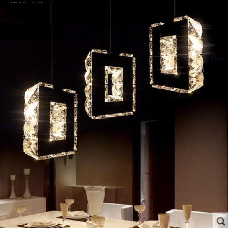 T 2016 New Simple Fashion Crystal Pendant Light 3 Heads Modern Northern Europe Creative Lamps For Restaurant Fashion DHL Free italy fashion pendant light and modern fashion creative restaurant simple energy saving lamps led new custom art