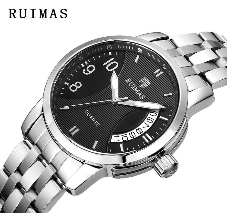 RUIMAS Top Brand Luxury Business Men Watch With Date Fashion Dress - Men's Watches