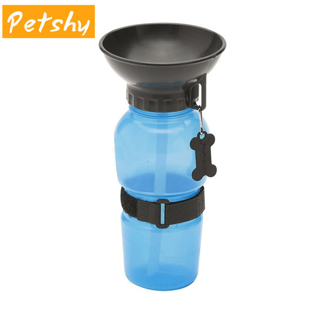 Petshy 500ml Dog Drinking Water Bottle Pet Puppy Cat Sport Portable Travel Outdoor Feed Bowl Drinking Water Mug Cup Dispenser
