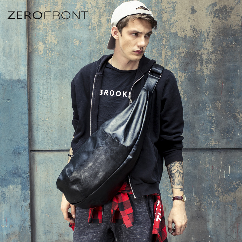 2019 Fashion Men PU Leather Sling Chest Casual Bag Laptop School Book Cross Body Messenger Shoulder Back Pack for Travel