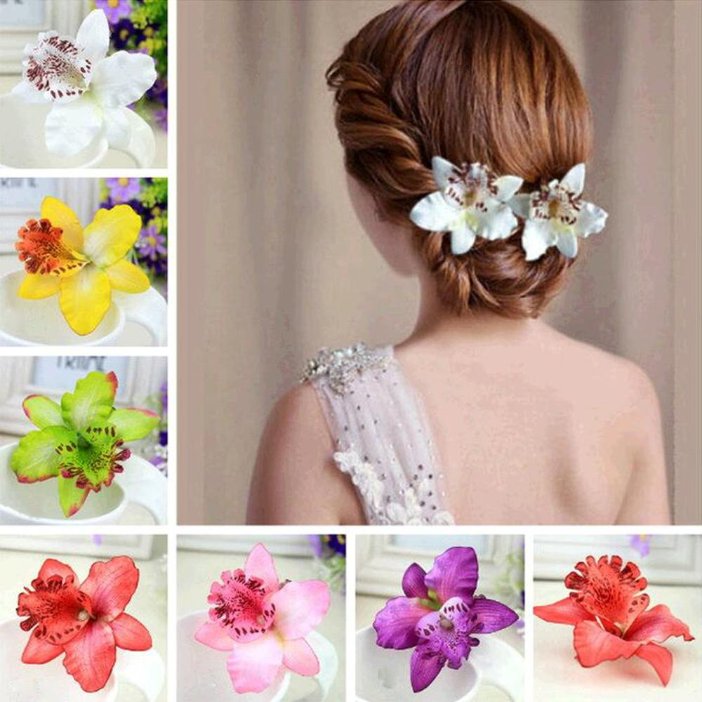 Ha hair accessories for sale - Tomtosh New Hot Girls Bohemia Women Wedding Leopard Orchid Flower Hair Clip Clips Hairpin Hair