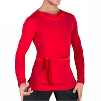 Popular Latin Dance Shirts For Males Vary Color Dance 2 Sleeve Tops Clothes Men Professional Ballroom Party Practice Wears 7027