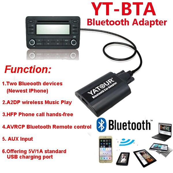 Yatour Bluetooth MP3 telefoontje handsfree kit BTA met Afstandsbediening voor Volvo SC autoradio radios - 5