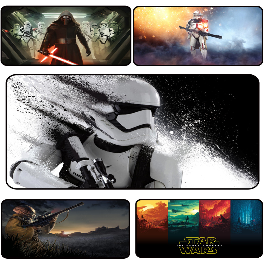 900x400mm Large HD Painting Gaming Mouse Pad For Gamers Players, Washable Laptop Computer Mousepad for Star Wars, 4mm Thickness