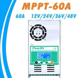 MPPT 60A Zonne-energie Opgeladen en Ontladen Controller 12V 24V 36V 48V Auto voor Max 190VDC PV input Vented Verzegelde Gel Nicd Li PowMr