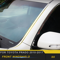 For Toyota Prado 2010 2019 Car Styling Front Windshield Windscreen Cover Frame Trim Sticker Exterior Accessories