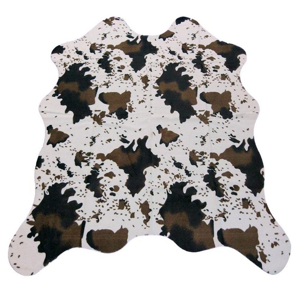 MustHome tapis pour salon vache impression tapis Faux peau de vache tapis pour enfants chambres/salon 140x160 cm