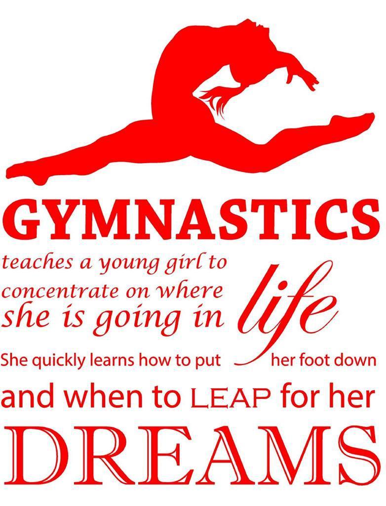 Popular gymnastics quotes buy cheap gymnastics quotes lots - Muebles para el hogar ...