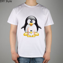 large and small Size Penguin LINUX LOGO  T-shirt cotton Lycra top
