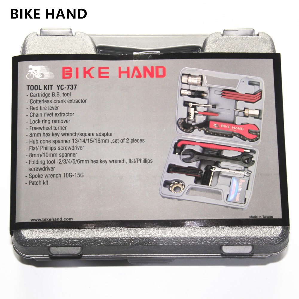 BIKE HAND 13 in 1 cased bicycle repair tool crank extractor BB tool