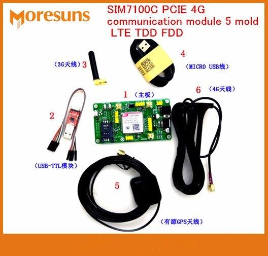 Livraison gratuite rapide SIM7100C PCIE 4G Module de Communication 5 moule LTE TDD FDD UNV-SIM7100C 4G carte de développement