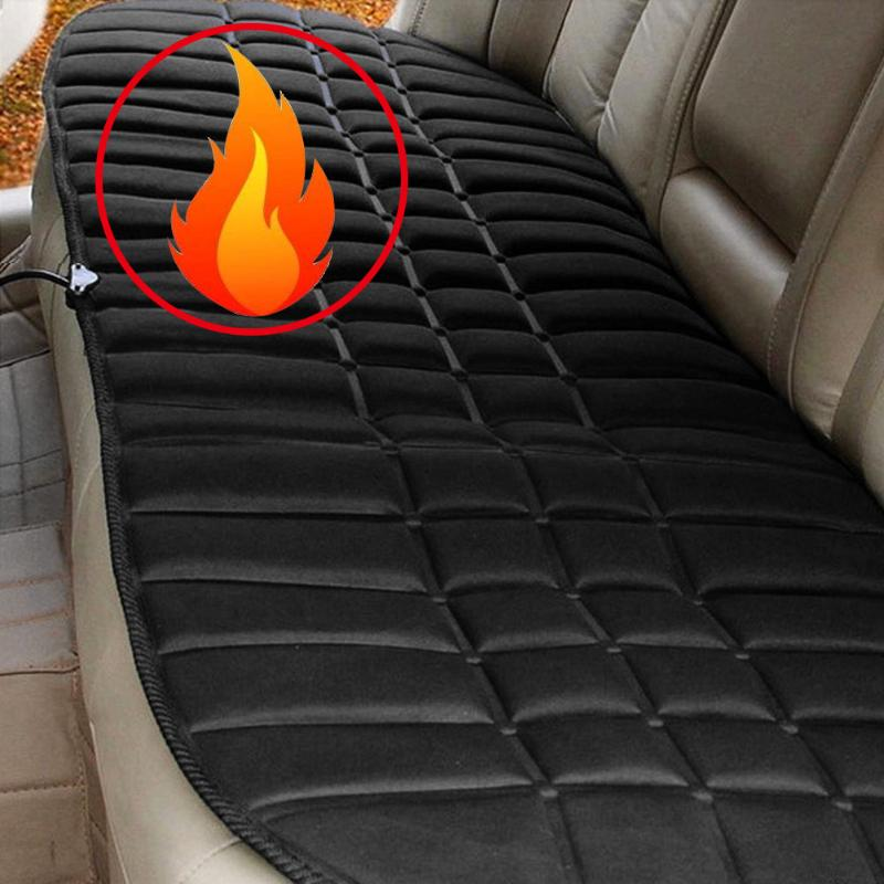 12V Heated Car Seat Cushion Cover Seat Winter Thermostat Heater Warmer Seatback Cardriver Auto Heating Heated Seat Cushion Pad 2pcs 12v universal car heated seat covers pad carbon fiber heated auto car seat heating pad winter warmer heater mat