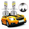 2 Unids Car Styling 120 W 12000lm COB LED Kit de Faros H4 HB2 9003 Hi/bajo vigas Bombilla No Error Blanco Canbus Automobile faro
