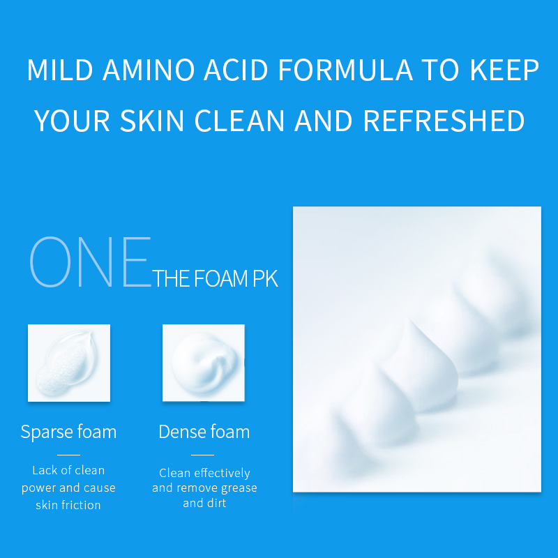 WIS man's amino acid oaming facial cleanser purifying and cleansing mousse salubrious oil control bubble moderate moisture - 3