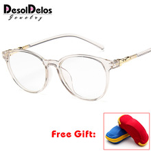 2019 Hot Women Glasses Frame Men Vintage Eyeglasses Frames Round Clear Lens Optical Spectacles With Box