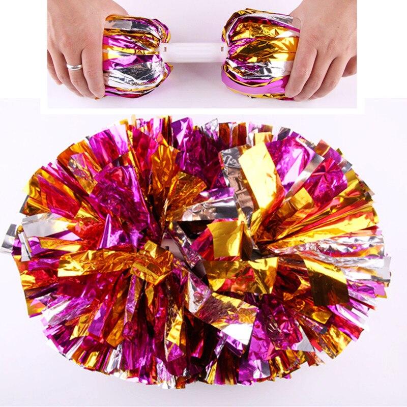 ZYMHOO Cheerleading Pom Poms,Flower Ball Games,Show Dance Hand Flowers,Cheerleading Pompoms,Cheerleader Ponpon,120g/pc,12pcs/lot