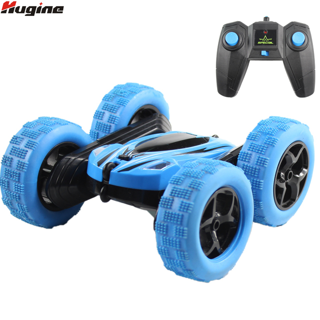 Hugine RC רכב 2.4G 4CH להיסחף פעלולים עיוות באגי רכב Rock Crawler רול רכב 360 תואר Flip ילדים רובוט RC מכוניות צעצועי מתנות