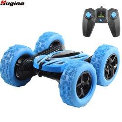 Hugine RC Auto 2.4G 4CH Stunt Drift Deformazione Buggy Auto Rock Crawler Rotolo di Auto a 360 Gradi di Vibrazione Bambini Robot RC Auto Giocattoli per I Regali