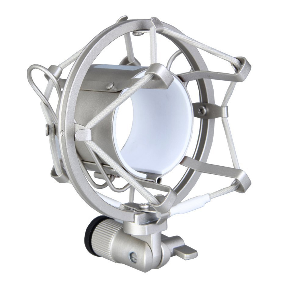 Microphone Shock Mount 50MM For 48MM-54MM Diameter Condenser Mic Silver