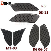 Motorcycle Anti slip sticker Motorbike Tank Traction Pad Side Knee Grip Protector For Yamaha yzf r6 2006 2015 yzf r6 2007 MT 03