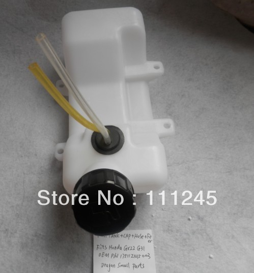FUEL TANK ASSEMBLY FOR HONDA GX22 GX31 4 CYCLE CAP FILTER LINE PIPE COMPLETE REPL. OEM PART # 17511.ZM5.003 fuel tank assembly w cap filter for honda gx110 gx120 4hp 118cc gasoline inlet outlet joint filter parts