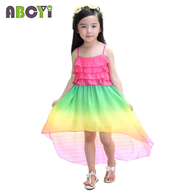 girl kids clothes 2016 summer 210 years colorful