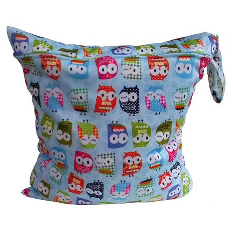 1PCS Diaper Bags Reusable Waterproof Fashion Print Wet Diaper Bag Double Pocket Fabric Portable Wet Bag 30*40CM Wholesale ...