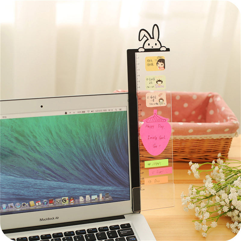 Acrylic Computer Display Screen Sticker Sticky Notes With Phone Holder Bookmark Notes Message Board Home Decorative Boards