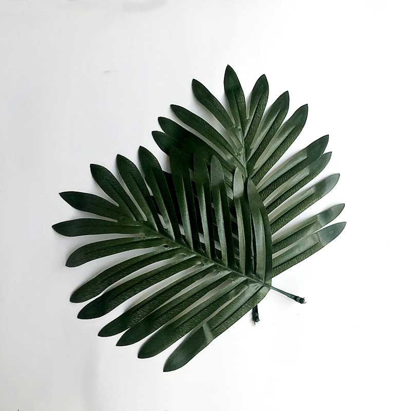 Cilected 20pcs Artificial Green Leaves Fake Plants Plastic Monstera Leaf Home Garden Decoration Nordic Style Faux Palm Leaves