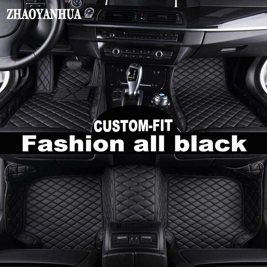 ZHAOYANHUA مخصص صالح سيارة الحصير لإنفينيتي ESQ سيارة نيسان جوك (Nissan Juke اكسسوارات 5D الثقيلة السجاد السجاد القدم حالة بطانات