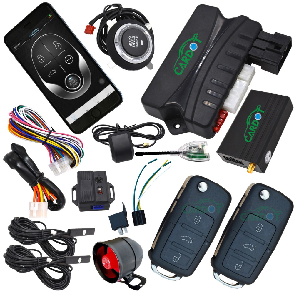 Gsm Car Alarm System With Passive Keyless Enrty Engine Start Stop Button Online Gps Tracking