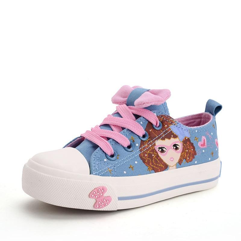 أحذية الأطفال أحذية الفتيات 2017 جميل الكرتون قماش أحذية البريدي أزياء جميلة bowknot مريحة عارضة أحذية أطفال رياضة