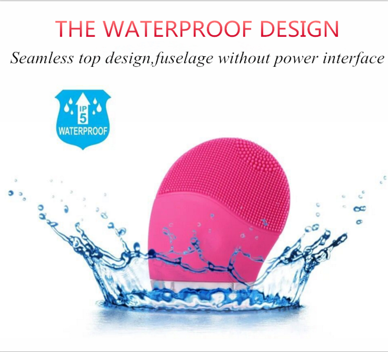 Silicone electric facial cleanser Instrument Brush Electric Beauty Instrument Pore Clean Vibration Rechargeable Wash Artifact sonic cleansing brush cleanser wash your face wash your face massage instrument deep pores clean cleanser electric wash brush