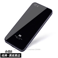 Mi5 Top Luxury Aluminum Frame Tempered Glass Back Battery Cover Xiaomi5 Case For Xiaomi 5 Cases