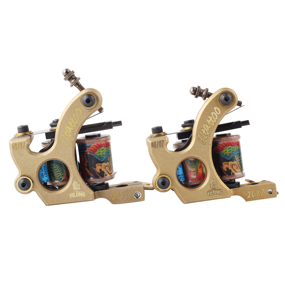 2017 High Quality Coil Tattoo Machines  for  Two Tattoo Machine Gun As Liner and Shader with boxes