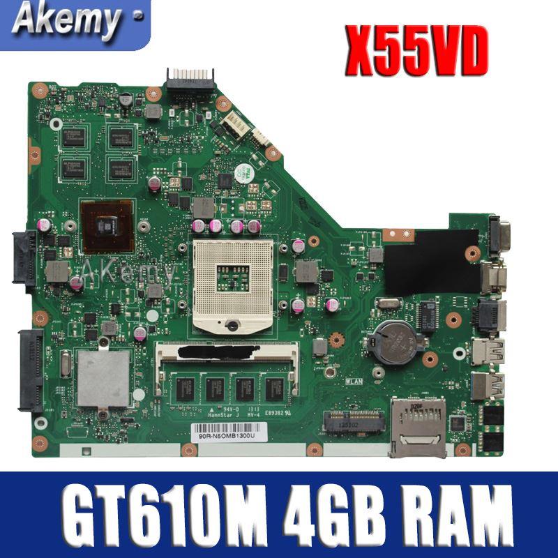 Carte mère d'ordinateur portable Amazoon X55VD pour ASUS X55VD X55V X55 Test carte mère d'origine REV2.1/REV2.2 GT610M 4 GB RAM