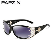 PARZIN Sunglasses Women Polarized Retro Female Luxury Sun Glasses Elegant Lace Spectacles Ladies Shades Black With Case