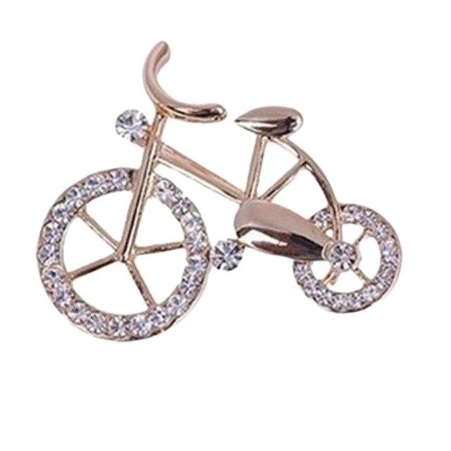 new fashion  bike bicycle shape brooch corsage rhinestone casual brooch  gifts