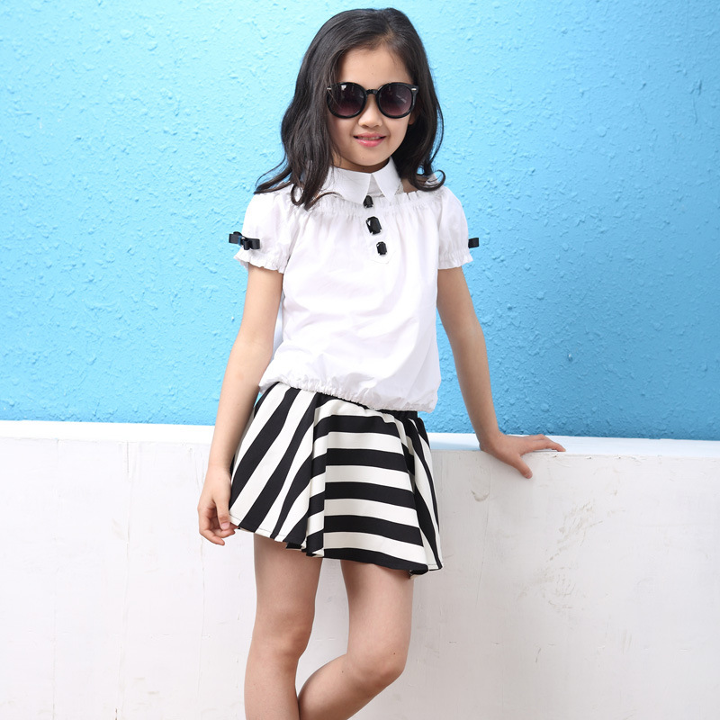b1dcaccd179 2015 new summer style baby girl fashion dress suit 3 4 5 6 7 8 9 10 11 12  13 years old girls clothes summer clothing A695-in Clothing Sets from  Mother ...